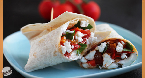 peppersgoatcheesespinachwrap