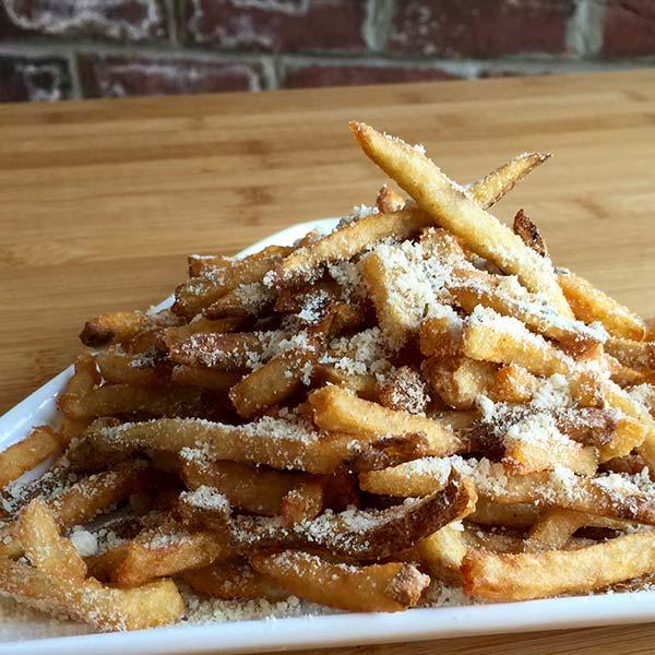 garlic parmesan food truck fries