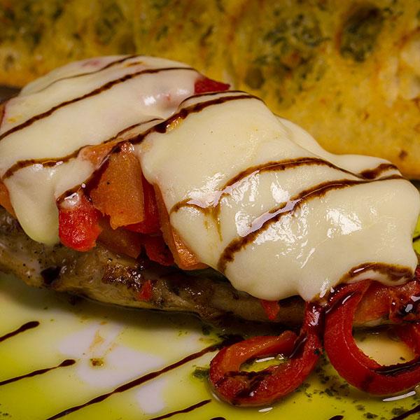 Grilled pepper cheese steak