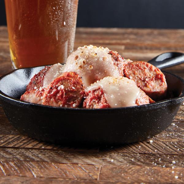 skillet marinara meatballs melted cheese