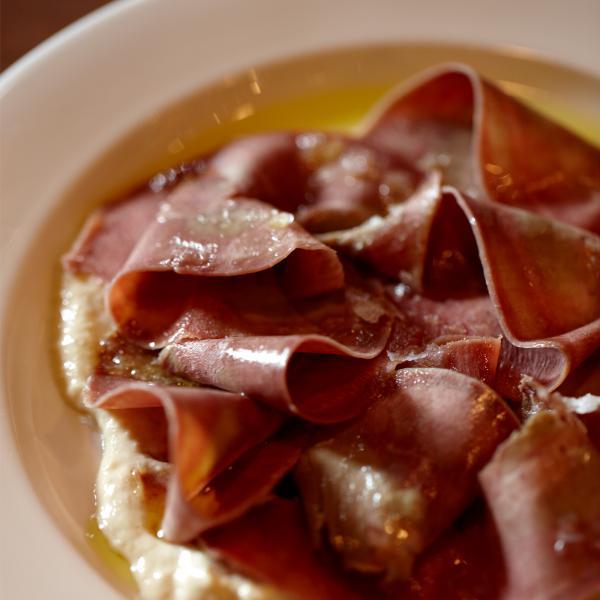 sliced spanish ham