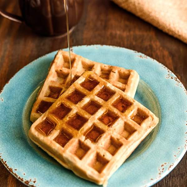 Waffle Maple Syrup Drizzle