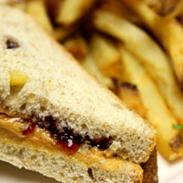 peanut butter and jelly sandwich with fries